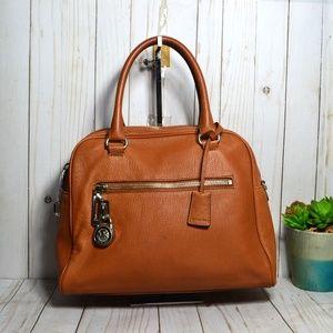 Michael Kors Dome Satchel Leather Crossbody Bag
